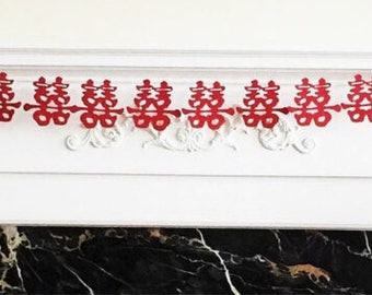 "6 Foot - Double Happiness Garland Brick Red - 3.5"" Double Happiness"
