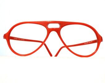 Swank Orange Aviator Frame Italy, UNISEX Eyeglasses or Sunglasses, NOS, Pure HEAT