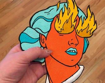 Fire Eye Girl Large BACK PATCH