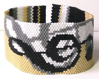 Annotations Peyote beadweaving cuff bracelet: Instant Downloadable Pattern PDF File