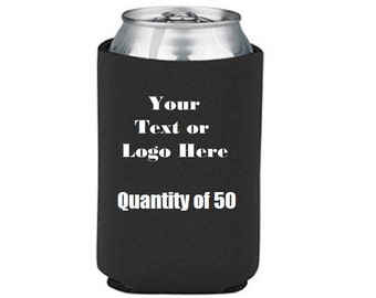 Custom Personalize Your Own Can Cooler (lot Of 50)