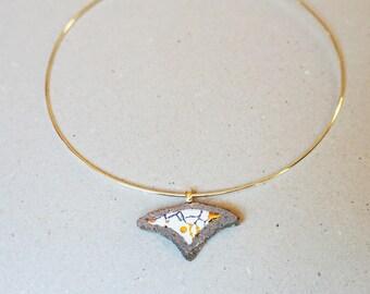 Organic white glazed lava 1 pendant
