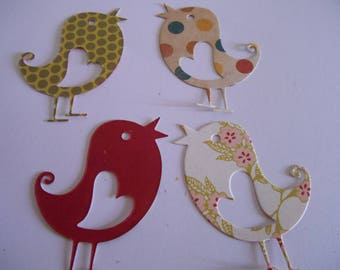 Birds Die Cut from Quality Patterned Scrapbooking Paper, Confetti, Paper Punches, Embellishments Pack 15