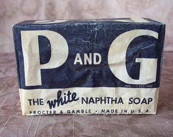 Vintage P and G and Crystal White soap bars.  C6-881-882-883-75.