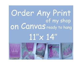 Canvas Kids Art, Canvas 11x14, Kids Decor, Canvas Artwork, Nursery Decor, Canvas Gallery Wrap, Nursery Wall Art, Canvas Children Art