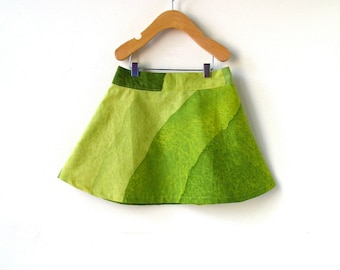 Girls Size 4 Marimekko Skirt- Green Waves