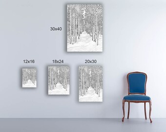 Bierstadt Snowtrail -- by James Ribniker -- Giclee on canvas