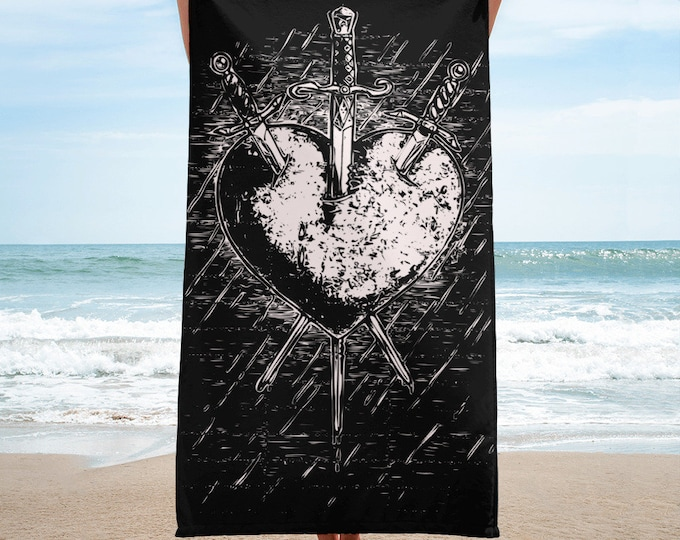 Three of Swords Towel