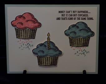 Cupcakes, Happy Birthday, Money cant buy happiness.......EB121