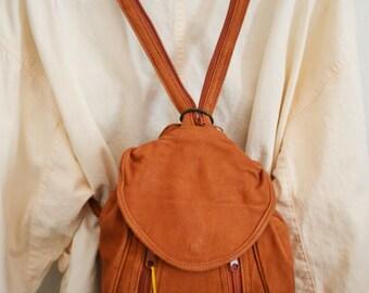 Backpack bag, Brown Leather backpack,Shoulder Bag, Purses, bags