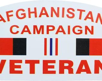 "Afghanistan Campaign Veteran Sticker 5"" x 3"""