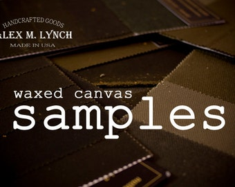 waxed canvas fabric  SAMPLES