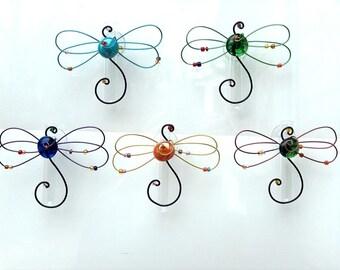 Dragonfly Suction Window Vase Hanging Glass Flower Vase Bud Vase Gardener Gift Garden Decor Bath Decor Home Decor oil diffuser