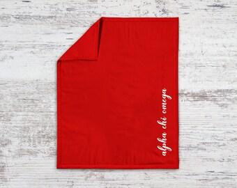 AXO Alpha Chi Omega Script Sweatshirt Blanket Throw Greek Licensed Sorority Gift