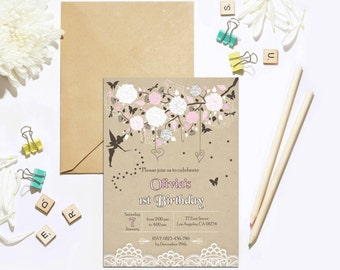 Fairy Birthday Invitation, Woodland Fairy Invitation, Enchanted Forest Fairy Invitation, Garden Fairy Party Invitation, Fairy Party Invite