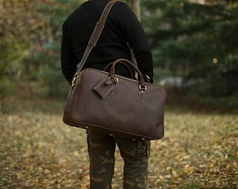 Large Leather Duffel Bag/ Etsy Gifts/ Monogrammed Duffel/ Dance Bag/ Gym Bag/ Overnight Bag/ Carry on Bag/ Airline Carry On/ Monogrammed Bag