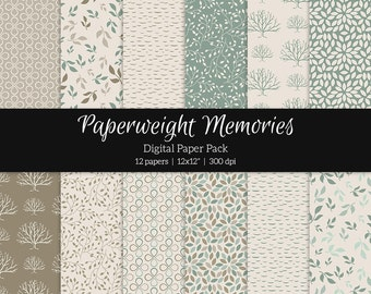 "Digital patterned paper - Everything changes -  digital scrapbooking - scrapbook paper - 12x12"" 300dpi  - Commercial Use"