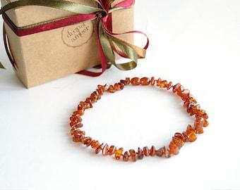 New mom - Amber teething necklace - baby baptism gift - nursing necklace - for teething babies - baltic amber necklace - orange