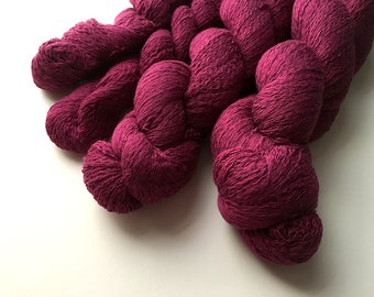 Reclaimed Lace Yarn - Cotton - Maroon