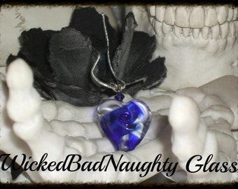 WBN Cobalt Blue Heart of Glass