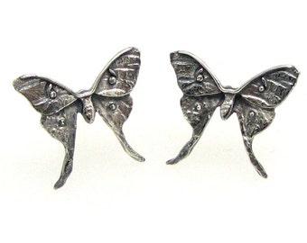 Tiny Luna Moth Stud Earrings