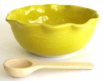 Salsa Serving Bowl - Yellow Glaze