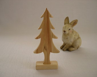 Christmas Pine Tree Large - Wood Tree Decor Made from Aspen Wood for Rustic Woodland Decor for Tabletop Display