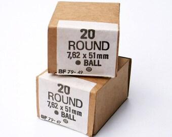 Nato Cartridge Boxes 1950s Army Surplus