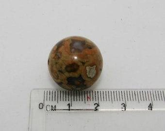 Orbicular Jasper ball 18 mm in diameter. (B) Pierre semiprecious. (6862596)