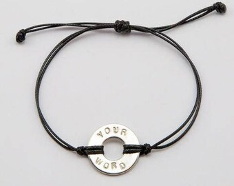 MyIntent.org Bracelet, Intent, Stamped Bracelet, custom name jewelry, Word bracelet, Custom stamped bracelet, Whats Your Word