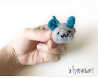 Miniature mouse needle felting mouse needle felted animal Handgemacht mouse gift Idea Gift
