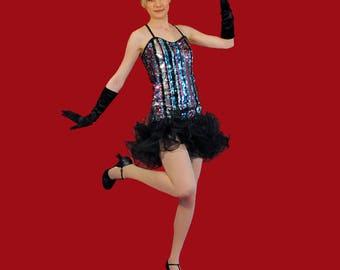 Multicolor charleston dance costume