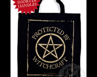 Protected By Witchcraft black tote bag