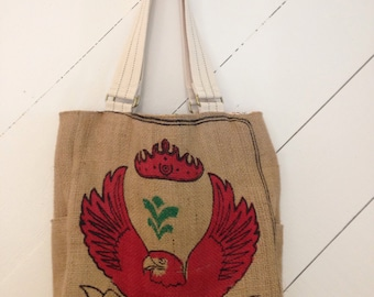 Awesome Upcycled Coffee Sack Tote Bag