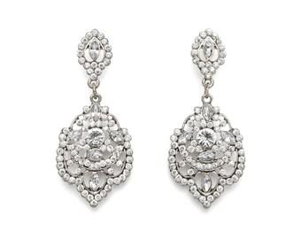 Silver Vintage Chandelier Earrings, Silver Chandelier Earrings, Vintage Chandelier Earrings, , Bridesmaid Earrings, Wedding Earrings, Bridal