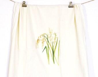 CLEARANCE Rice Flour Sack Towel, Tea Towel, Flour Sack Kitchen Towels, Flour Sack Dish Towels, Farmhouse Kitchen, Rice Plaint Painting