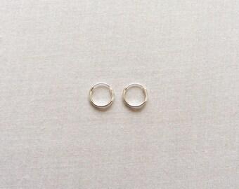10 mm Sterling Silver Hoop Earrings - Silver Hoop Earrings - Tiny Hoop Earrings - Hoop Earrings - Small Hoop Earring -  Silver Hoop Tiny