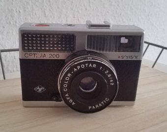 Agfa Optima 200 sensor vintage camera 1970 color outfit 1: 2.8 / 42 rangefinder camera