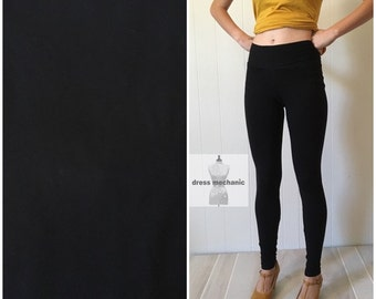 Black leggings, high waist brushed poly spandex leggings or yoga/workout pants available in plus size and custom length