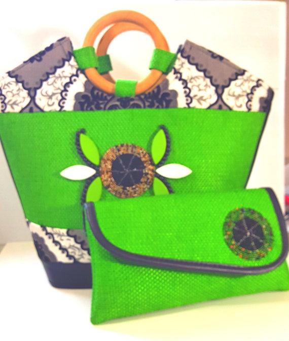 Handmade African Tote Handbag