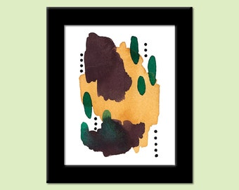 Colors of the Day 80 - Colorful Contemporary Modern Abstract Art Print by Megan Q.C. Gallagher