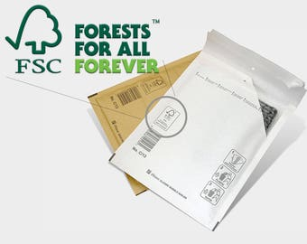 Size A (3.94x6.5inch) 10-100pcs 100% RECYCLABLE Certified Yellow Kraft Bubble mailers envelopes shipping 100x165mm