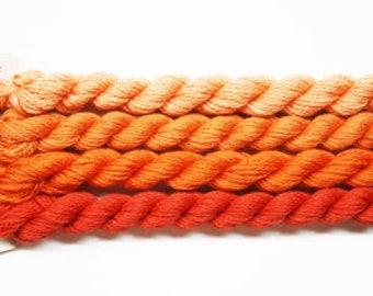 Silk & Ivory Yarn 4.95 Each, Silk Threads, Silk Ivory Thread, Brown Paper Packages Silk Ivory Yarn, Needlework Yarns, Needlepoint Yarns