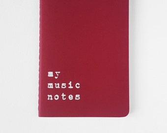 Music notebook - Red MOLESKINE® notebook. For all music lovers: musicians, lyricists, producers, rappers, DJs, garage bands and pop stars