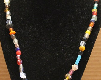 Large Mixed Glass Bead Necklace