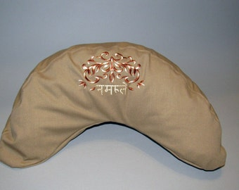 Meditation Pillow, Buck Wheat, kidney shaped zafu