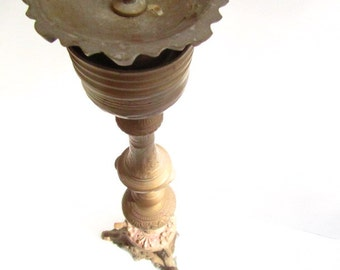 LARGE BRASS CANDLE Holder, Shabby Chic Candle Holder, Brass Candle Holder, Candle Holder