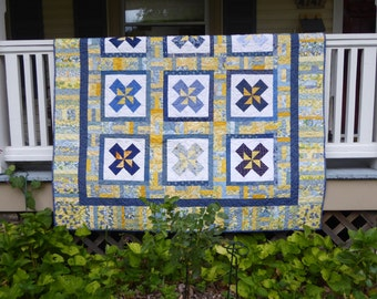 Double Pinwheel Twin Quilts
