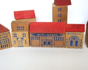 Wooden Town Blocks