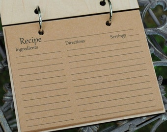 Extra Recipe Cards for Blank Recipe Book, Gift for Baker, Chef or Cook